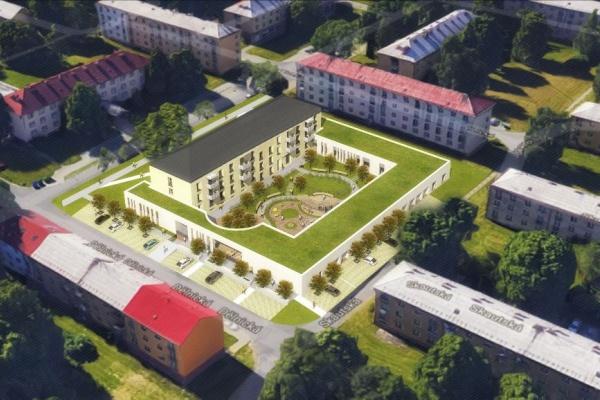 Vizualizace Komunitního domu pro seniory Dělnická
