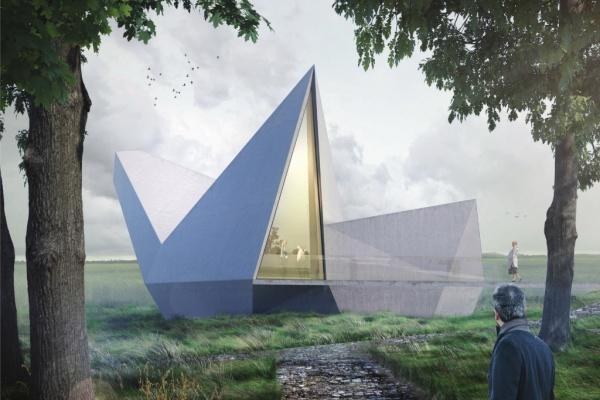 Vizualizace návrhu ateliéru Ateliér Štěpán