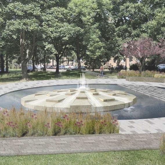 Poruba bude mít opět fontánu. V parku u DK Poklad